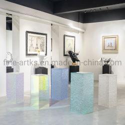Exquisite Strukturierte Dekoration Säule Semi-Transparente Acryl Handwerk Kunstsammlung Display Steh