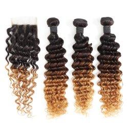 Super Combo DE CABELLO 180% tejido de pelo con el cierre de encaje 4*4