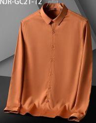 الجملة اللون النقي القمصان الرجال بأسعار منخفضة / السلع في الأسهم قميص مريح وجيد التهوية 2021Fashion Leisure