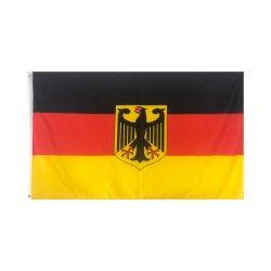 90X150cm 3X5FT 국제적인 축구 올림픽스 옥외 큰 독일 독일 깃발을 인쇄하는 도매 고품질 스크린