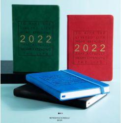 カスタム 2022 ハードカバーカードボード紙ポケットダイアリプリンティングデザインスケジュール スパイラルプランナー執筆ジャーナル印刷ソフト PU レザーカバーオフィス ノートブックを供給します