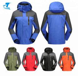 Les hommes de haute qualité 3 en1 veste avec les vêtements de sport de plein air étanche au vent