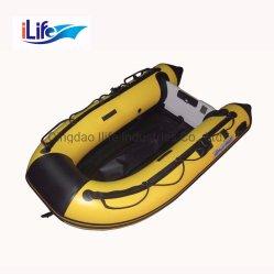 Ilife желтого цвета ПВХ/Hypalon Надувные спасательные промысел резиновой лодки с алюминиевым/внакидку Air/фанера пола для продажи