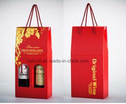 Sacchetto del vino della bottiglia del documento stampato abitudine due per promozionale