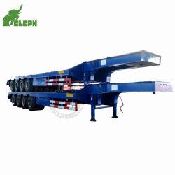 Для тяжелого режима работы 4 мостов 100тонн низкая кровать прицеп Сделано в Китае