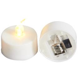 С аккумуляторным питанием Желтый мигающий индикатор Flameless чай лампа
