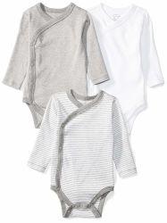 Детский набор из 3 органических Long-Sleeve Side-Snap Bodysuits Romper