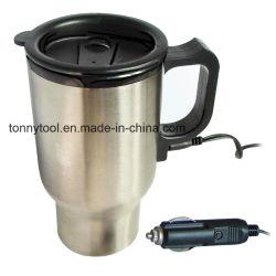 新しい熱くする12V 450mlのステンレス鋼旅行暖房のコップのコーヒー茶車のコップのマグ