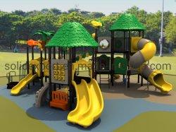 El Kindergarten a gran escala de plástico multifunción juegos al aire libre Guía para estudiantes jugando