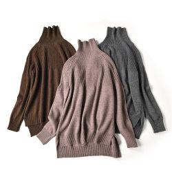 Commerce de gros de haute qualité tricot Pull col roulé laine mérinos