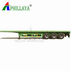 Aluminiumtandemwellegooseneck-Flachbettbecken-Transport-Behälter-Sattelschlepper-LKW-Fahrzeug