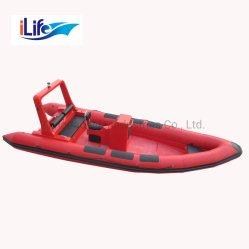 Ilife Tシリーズ堅い外皮のFirberglass作業販売のためのセリウムが付いている膨脹可能な釣スポーツFRPの救助艇深いVの鋭いシャチ828/Redファブリック