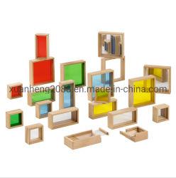 Детей в таблице головоломки Crystal валик радуга блоки деревянные игрушки для детей образования игры