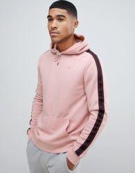 Der hellrosa Männer Baumwolle-Mischen Pullover Hoodies