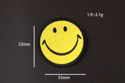 Lächeln gestickte Patc glückliche Stickerei ändert Abzeichen für jeder als Keychain