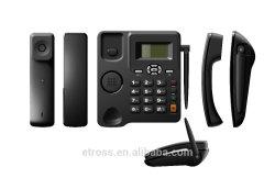هاتف سطح المكتب FM Raido GSM مع بطاقة SIM واحدة دعم متعدد اللغات، GSM FWP