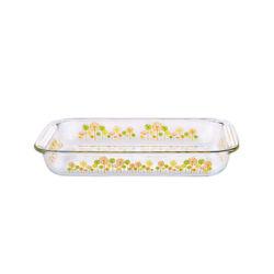 Horno de vidrio templado de seguridad alimentaria de la cocción Borocilicate Contenedor de las placas de horno de microondas Bakeware