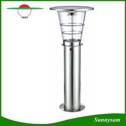 4W 태양 전지판 스테인리스 옥외 태양 정원 포스트 램프 태양 잔디밭 빛