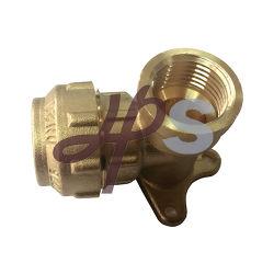 Messing Druckwandplatten-Winkelstück für PE PPR-Rohr