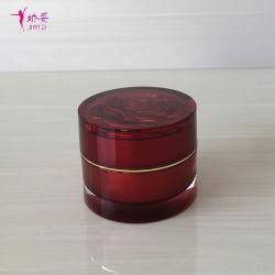 15g pot de crème en acrylique avec Rose Cap pour les cosmétiques L'emballage