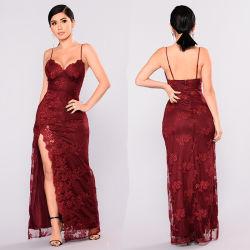Бургундия вечерние платья спагетти Sexy Prom-платье тюль использованием стекла моды официальное платья мини платье