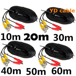 Draad van uitstekende kwaliteit BNC van kabeltelevisie van de Kabel RG6 Rg59 Rg58 Rg174 de Coaxiale met de Schakelaar van gelijkstroom voor de Camera van kabeltelevisie
