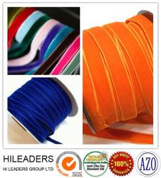 100% nylon cinta terciopelo elástico