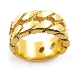 Anello su ordinazione dei monili dell'acciaio inossidabile dell'anello dell'anello della fascia della gomma di modo