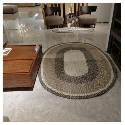 Ручная работа пыли против скольжения экранирующая оплетка овальной формы ковры ковры из Китая Шаньдун играть экранирующая оплетка коврик