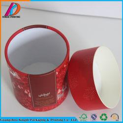 Decorativa redonda de color rojo al por mayor caja de regalo de Navidad