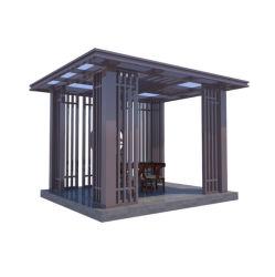 Hout Grain Pavilion Outdoor Garden modern Aluminium Pergola