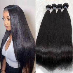 Groothandel Goedkope haar Weft bundels Cuticle gericht onverwerkte Virgin Human Haarweefsel natuurlijke Braziliaanse menselijke haarverlenging