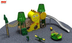 Nette Entwurfs-Kind-im Freiendschungel-Gymnastik mit Edelstahl-Plättchen