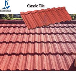 I chip di pietra variopinti antiruggine del materiale da costruzione di Amercia di stile del nord del tetto hanno coperto lo strato d'acciaio del tetto