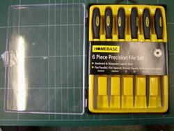 6PC 3x140mm hipodérmica arquivo configurado com pega de plástico cor dupla
