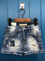 Новый стиль мыть горячей Diamond джинсы короткие брюки для девочек