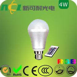 4W 매직 LED 무드 조명, E26/E27 베이스 유형, 16가지 색상의 검증 가능, CE 및 RoHS 인증
