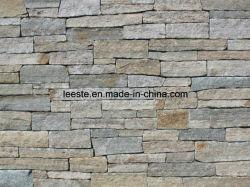 Природного камня выступ панели Slate плитки для декоративной стеной оболочка