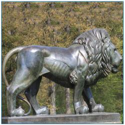 Домашняя открытый ворот оформление Литые бронзовые статуи животных Льва