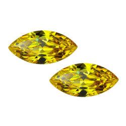 الصخرة الصخرة الصخرة الصخرة الصناعية الحرة جيمستون ماركيز قطع 5# أصفر لون مكعب من الحجر الجوزركونيا