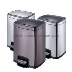 15L en acier inoxydable chambre ou salle de bains automatique Capteur de mouvement infrarouge Touchless Corbeille avec pédale