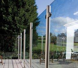 Inox Glastreppen-Balustrade-Edelstahl-Handläufe für im Freienjobsteps
