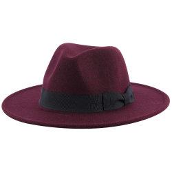 Protezione nera di Women&Men della fedora del feltro delle lane del cappello di jazz