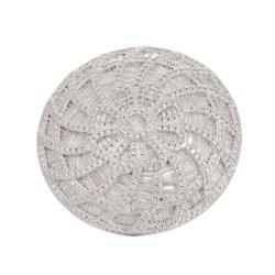 Las mujeres aman la moda Anillo Flor grande Anillo de piedras preciosas incrustaciones de circón