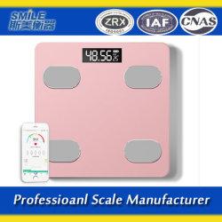 180kg Escala de gordura corporal com o APP Simei Bluetooth para casa de banho da marca de gordura de peso