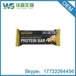 蛋白質棒ピーナッツバターの暗いチョコレートチップスのグルテンは12の棒を放す