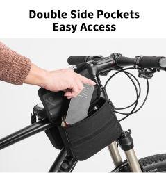 Pantalla táctil del teléfono de la bolsa de bicicleta Bicicleta bilaterales frente Portasilla MTB Bicicleta de carretera tubo superior a 6,0 pulgadas de la bolsa de accesorios de bicicletas