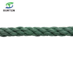 Donkergroene PE/nylon/polyethyleen/synthetisch/kunststof/vissen/marien/afmeren/verpakken/verdraaien/gedraaide kabel