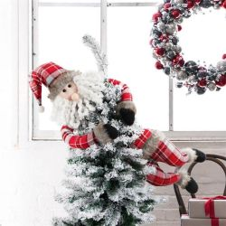 Amazon populaires Santa Claus Tree Top ornements de la télécommande d'arbre de Noël Noël de nouveaux produits du commerce extérieur