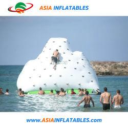 Inflables de lona de PVC de alta calidad de la isla flotante de Iceberg Iceberg / muro de escalada para la venta caliente